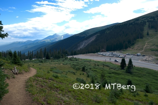 At the trailhead looking back to Berthoud Pass parking. People like to skin up there and ski down in the winter.